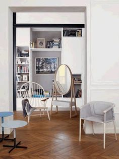 Lovely picture from Le Bon Marché catalogue featuring Benjamin Hubert's Cargo Chair.