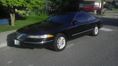1995 Lincoln Continental Mark VIII Coupe Lincoln Mark Viii, Lincoln Continental, My Black, Car Stuff, Cool Cars, Have Fun, Trucks, Vehicles, Slot Cars