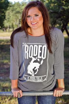 ATX Mafia Rodeo Grey 3/4 Sleeve Shirt