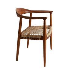 A sleek and beautiful Hans Wegner chair.