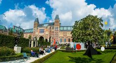 The sculpture garden at the Rijksmuseum in Amsterdam Sculpture Garden, Museums, Netherlands, Travel Guide, Amsterdam, Mansions, House Styles, World, Pictures