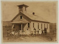 Pleasant Green School–one-room colored school near Marlinton, W.–Pocahontas Co. It is one of the best colored schools in the County, with a capable principal holding a first-grade certificate. All the children are Agricultural Club workers. Old Pictures, Old Photos, Vintage Photos, School Pictures, Old Country Churches, Old Churches, Country Roads, Old School House, School Days