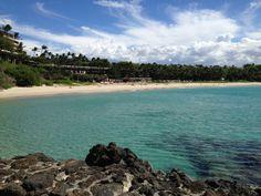 View of bay from Mauna Kea Hotel on Big Island of Hawaii