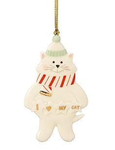Lenox I Love My Cat Ornament. #Lenox #Statue #Sculpture #Figurine #Decor #Gift #gosstudio .★ We recommend Gift Shop: http://www.zazzle.com/vintagestylestudio ★