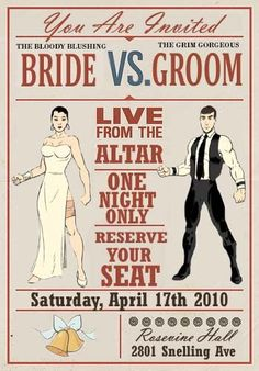 Save the date/invitation just for fun to add a little MMA-ness lol