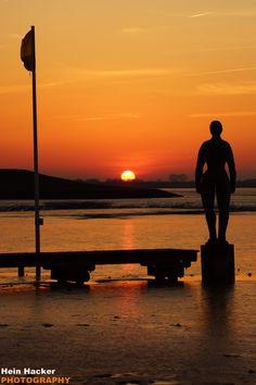 #Sonnenuntergang in #Dangast über dem #Wattenmeer
