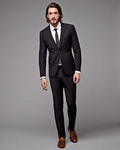 dd7730e900cf80 How To Wear Black Suit For Men Work Outfit 37. Zwart Pak BruidegomMaatpakkenZwarte  ...