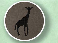 Giraffe Silhouette. Cross Stitch PDF Pattern by andwabisabi, $2.50
