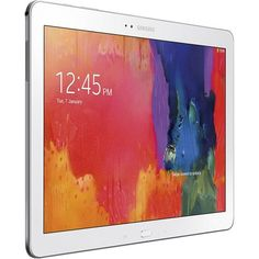 Samsung - Galaxy Note Pro 12.2 - 64GB - White - Angle Zoom
