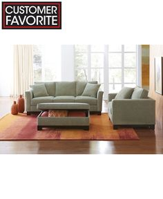 kenton fabric sofa living room furniture collection - furniture