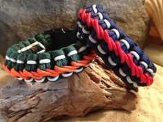 Custom Handmade Cobra Paracord Survival Bracelet with Side and Center Stitching
