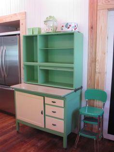 green hoosier cabinet