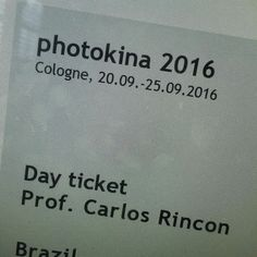 E vamos lá! #photokina