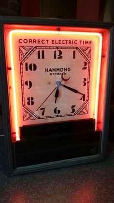 VIntage Hammond Advertising Neon Clock sold $412