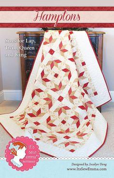 Hamptons Quilt PatternIt's Sew Emma #ISE-142 - Quilt Patterns | Fat Quarter Shop