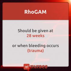 "When an Rh incompatibility is identified, Rhogam will be given, as a shot, during week 28 of pregnancy (it will also be given after chorionic villus sampling, amniocentesis, miscarriage, ectopic pregnancy, abortion, uterine bleeding, or any trauma during pregnancy that could leak some of the fetal cells over to you) and then again within 72 hours after delivery (if, that is, the baby is indeed Rh-positive; if he or she's Rh-negative, the shot isn't necessary because there are no ""foreign""…"
