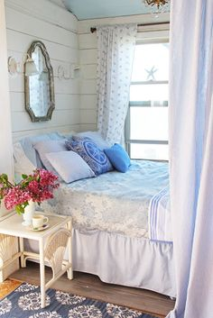 Shabby chic is a quite soft style which fits perfectly for cottages but can be used at many other homes too. It easily can add a feminine touch to any interior and make it quite unique. Usually, in such interiors,… Continue Reading → House Styles, Farmhouse Style Master Bedroom, Shabby Chic Bedrooms, Dreamy Bedrooms, Cozy House, Home, Cottage Decor, Master Bedrooms Decor, Chic Bedroom