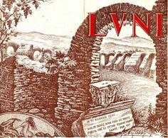 Luni. Dépliant pubblicitario dell'Ente Provinciale per il Turismo di La Spezia (1951)