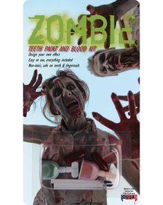 Zombie Teeth Paint Blood Kit – Spirit Halloween