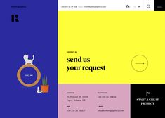 Kommigraphics, is an independent visual communication agency, creating custom web design, brand identities, packaging design with immersive print & digital. Custom Web Design, Best Web Design, Web Mockup, Web Design Trends, Visual Communication, Packaging Design, Website, Yellow, Design Packaging