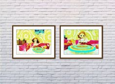In The Living Room 2 Art Print Kids Room decor Art by ADollysWorld, kr85.00