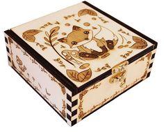 Wooden box Fox #chibipyro #artisan #craft #shop #leather #wood #woodburning #fire #fan #art #artisan #craft #handmade #etsy #shop #pyro #pyrography #burn #burning #fire #drawing #woodburner #cork #recycled #purse #comb #hairbrush #note #book #sketch #tobacco #pouch #bookmark #pochette #box #pencil #case #pendant #keychain #fox #cat #animal #kawaii