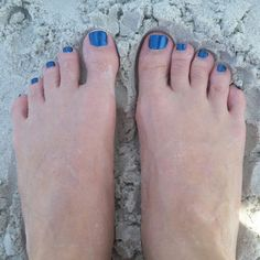 Blue Polish at the Sea