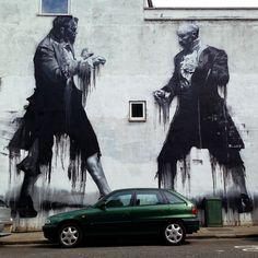 New work by #conorsayboom street art graffiti