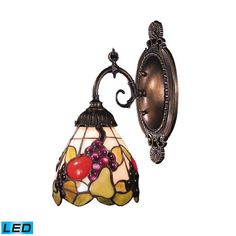 Mix-N-Match Tiffany Bronze 10-Inch LED One Light Wall Sconce with Full Range Dimming