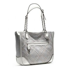 Coach :: Poppy Quilted Jersey Small Chain Tote