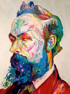 Portrait by artist & professor Aaron Smith.