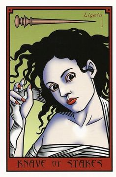 Page of Wands - The Vampire Tarot by Robert M. Place