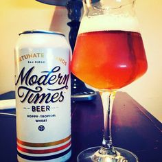 Fortunate Islands by Modern Times Beer - tangy apricot rides over the top of the flavor profile...was fun having Tess guys in NYC for a while! #moderntimesbeer #fortunateislands #palewheatale #craftbeer