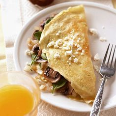 Try our 20-minute vegetarian omelet when you're craving something different for dinner. #BHGEverythingSummer