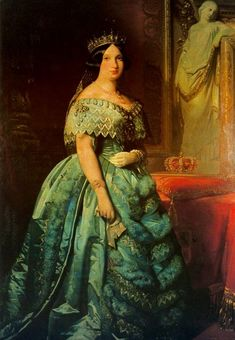 1845-1848 Isabel II by Federico Madrazo y Kunz (Ministerio de Hacienda - Madrid, Spain)