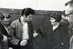 Backstage in Toronto, ON on April 2, 1957