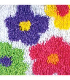 Cushion Latch Hook Kit Pillow Mat Diy Craft Flower By Cross Stitch Needlework Crocheting Cushion Embroidery Cushion Embroidery, Embroidery Thread, Pillow Mat, Costura Diy, Latch Hook Rug Kits, Pom Pom Rug, Tapestry Kits, Cross Stitch Fabric, Weekend Projects