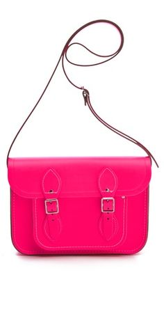 This bright neon pink bag will add a pop of color to any look #neon#trend
