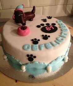 Dog birthday cake Dog birthday Birthday cakes and Bakeries