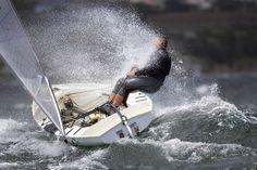 Sailing. Do you think he got a little damp?