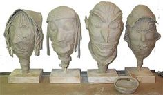No Fire Clay Heads Lesson Plan: Sculpture Activities and Lessons for Children and Kids: KinderArt ®