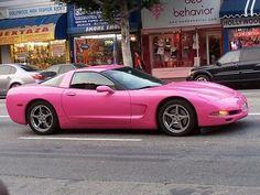 Pink corvette!