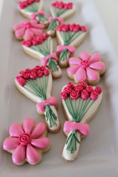 Great use of a witches broom! Spring Inspired Rose Cookie | The Crafting Foodie