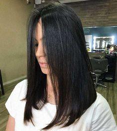Medium Hair Cuts, Long Hair Cuts, Medium Hair Styles, Curly Hair Styles, Long Bob Haircuts, Easy Hairstyles For Long Hair, Straight Hairstyles, Hair Color For Black Hair, Dark Hair