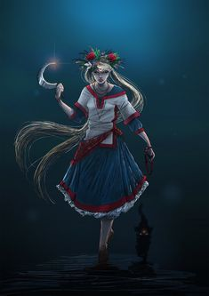Slavic Moon by Odrobinka on DeviantArt Character Art, Character Design, Princesa Serenity, Witch Tattoo, Russian Culture, Baba Yaga, Sailor Moon Art, Russian Folk, Sailor Scouts