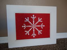 Button Snowflake art