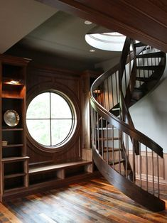 Refined wood staircase