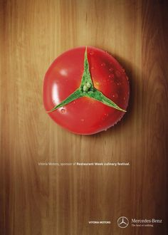 Afiche para Vitoria Motors-Mercedes-Benz: Vitória Motors, sponsor of Restaurant Week culinary festival. Clever Advertising, Advertising Poster, Advertising Design, Marketing And Advertising, Advertising Campaign, Guerrilla Marketing, Street Marketing, Ads Creative, Creative Posters