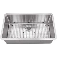 Schon All-in-one Undermount Stainless Steel 30x17x10 0-Hole Single Bowl Kitchen Sink-SCRASB321916 at The Home Depot