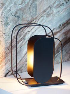 AKAR DE NISSIM's Desk Lamp SEQUIN in black colour
